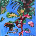 Fantasiepflanze, Acryl auf Pappkarton 70x50 210,-