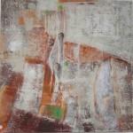 Acryl mit Sand, 4 cm tiefer Rahmen, 230.-