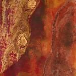 Toskanaschlucht, Acryl auf Papier, 60x30cm Preis: 280€ mit Rahmen